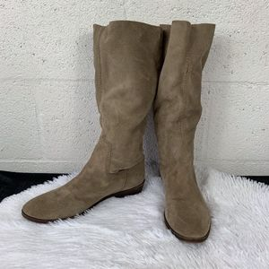Nine West Sz 8M Slouch Suede Mid Calf Boots